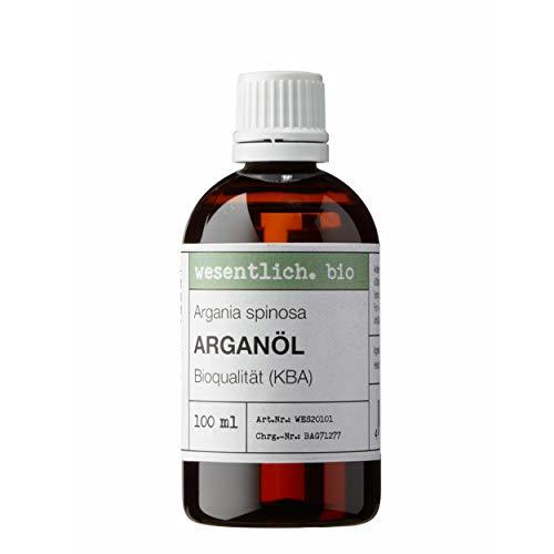 Arganöl BIO kaltgepresst 100ml (Argania Spinosa) - 100{df6de3f2e280a4683a73c75003df0edbeff99505c1c0dc66991a48a7f8a4f34f} naturrein von wesentlich.