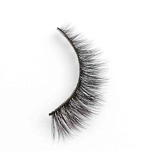 Damen Wimpern, SHOBDW 3D Natürliche Multi Layer Dickes Kreuz Auge Wimpern Falsche Wimpern (A02)
