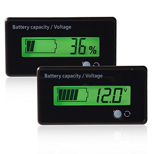 Misuratore di potenza digitale Tester, Bewinner LCD Display Capacità della batteria Tester del voltmetro Tester del voltmetro Retroilluminato verde Tester della batteria universale con un film in PVC