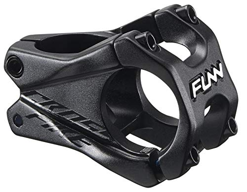 Funn Crossfire MTB Stem, Bar Clamp 31.8mm, Lightweight and Strong Alloy Stem for Mountain Bike (Length 35mm, Black)