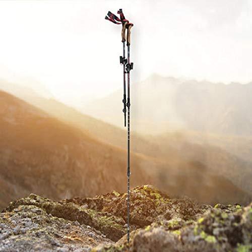 Crivit Aluminium Trekkingstöcke Trekking 100-135cm Wanderstöcke 1 Paar - SCHWARZ/ORANGE
