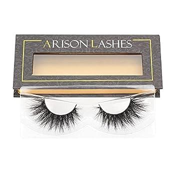 Arison 3D Lashes Natural Look Fake Eyelashes Mink False Wispy Lashes Fluffy Bulk Pack Real Long Strip Eyelashes for Women  DS2