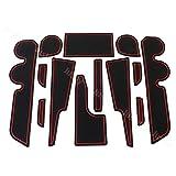 トヨタ ライズ & ダイハツ ロッキー (RAIZE Rocky)専用 インテリアラバーマット (赤色/RED) ラバーマット ドアマット ドアポケットマット A200 ドレスアップパーツ・アクセサリー