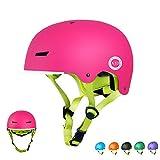 XJD Toddler Helmet Kids Bike Helmet CPSC Certified Adjustable Bicycle Helmet Kids Helmet Safety Helmet Skateboard Longboard Roller Skate Inline Skating Scooter 3-13 Years Old Helmet (Pink, S)