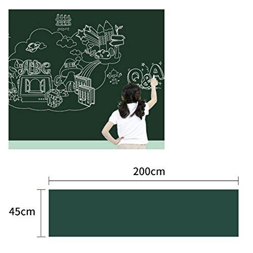 Amaoma bordfolie, zelfklevend, zwarte bordfolie, afneembare bordfolie, zelfklevend, voor thuis, school en kantoor, 45 x 200 cm