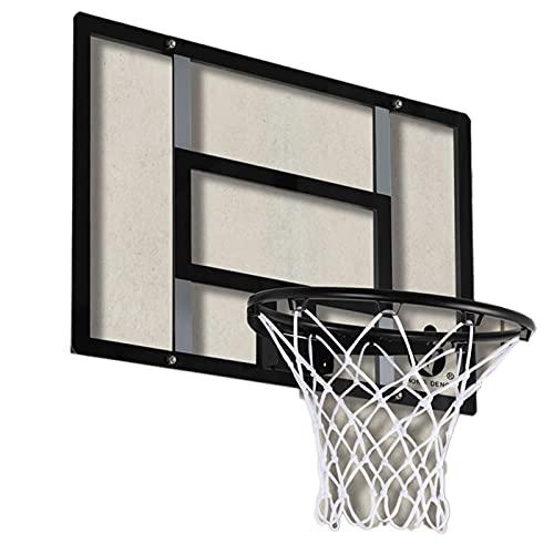 Canasta de baloncesto Aros de Baloncesto Portátil para Afuera, Tablero Montado en la Pared con Accesorios Completos, para Adolescentes/Adultos