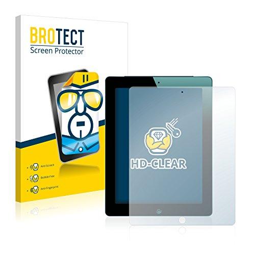 BROTECT Schutzfolie kompatibel mit Apple iPad 2012 (3. Generation) (2 Stück) klare Bildschirmschutz-Folie