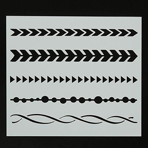 MASUNN Muster Vintage Airbrush Wand Farbe Stencil Scrapbooking Fotoalbum Craft DIY Decor
