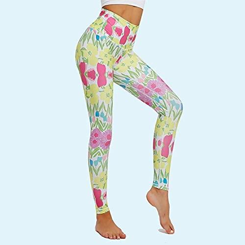 ArcherWlh Yoga Pantalones,Plantas de Secado rápido Transpirables de Pantalones de Yoga Leggings Mujer-Pantalones 6113_L