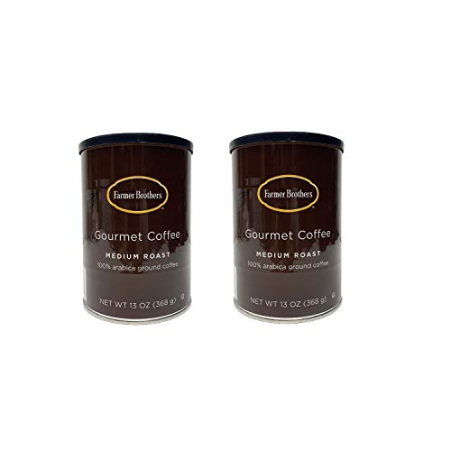 Farmer Brothers Gourmet 100% Arabica Medium Roast Ground Coffee 13 Ounce 2 Cans