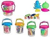DISOK Lote 24 Juegos Cubo Plastilina y Moldes. Manualidades, prácticos Regalos y Detalles para niñ@s en cumpleaños, Fiestas, comuniones, colegios