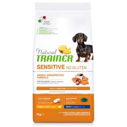 Trainer Natural Sensitive No Gluten Small & Toy Adult con Salmone 7,5 kg