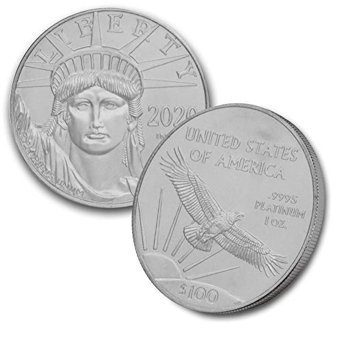 2020 1 oz Platinum American Eagle BU in CoinFolio Coin Flip $100 Brilliant Uncirculated