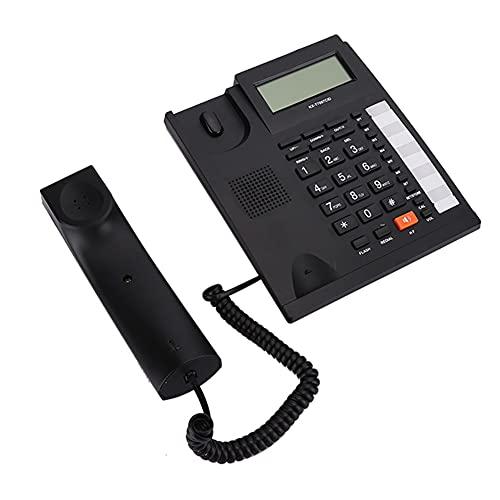 Mugast Schnurgebundenes Telefon,Klassisch LCD Bildschirm Schnurtelefon mit Große Schaltflächen Freisprecheinrichtung Tischtelefon mit Klarer Ton Anrufbeantworter(Schwarz)