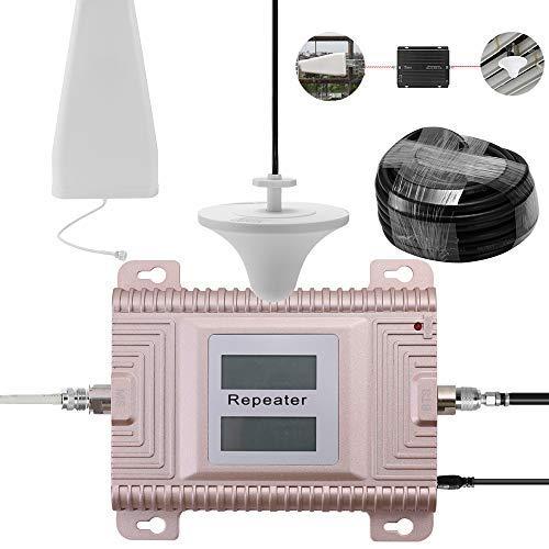 KKmoon GSM / 3G 900 / 2100 MHz 2G / 3G Amplificador de señal del teléfono móvil con doble pantalla LCD de doble banda para teléfono móvil, amplificador de señal repetidor, juego de amplificadores