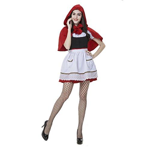 Fever Fairytale Miss Little Red Riding Hood Hoodwinked Fancy Dress Stretch Costume