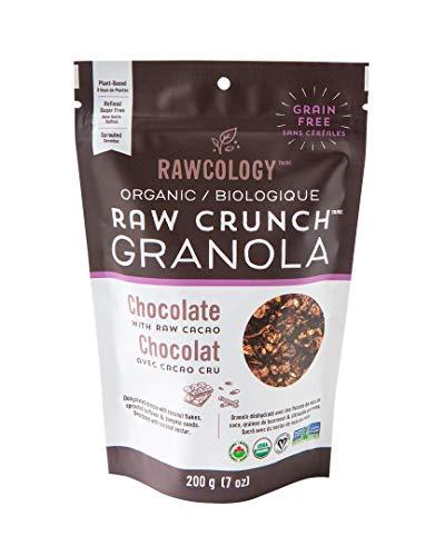 Rawcology   Granola croccante al cioccolato   100% Organico & Naturale   Granola Healthy   Senza zuccheri aggiunti, Senza glutine, Paleo   200g   Granola Bio dimagrante   Dieta Chetogenica