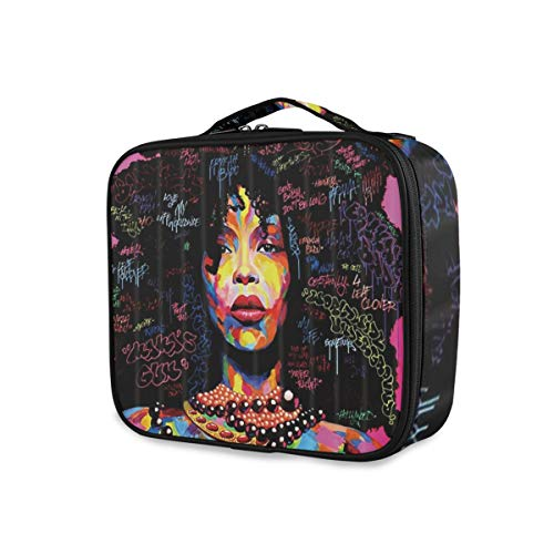 SUGARHE Afro Black Girl Acuarela Graffiti Mujeres afroameric