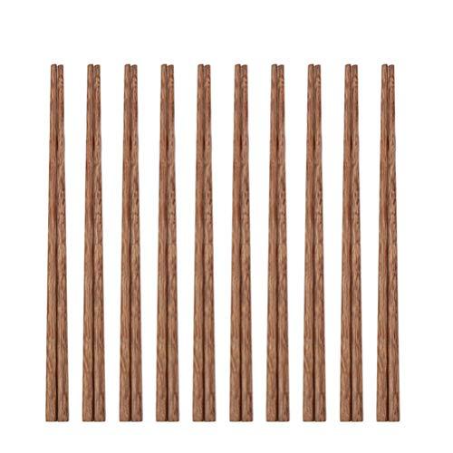 UPKOCH Lot de 10 paires de baguettes chinoises classiques en bois pour cuisine, salle