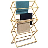 Bartnelli Bamboo Laundry Drying Rack for Clothes, Wood Clothing Dryer,...