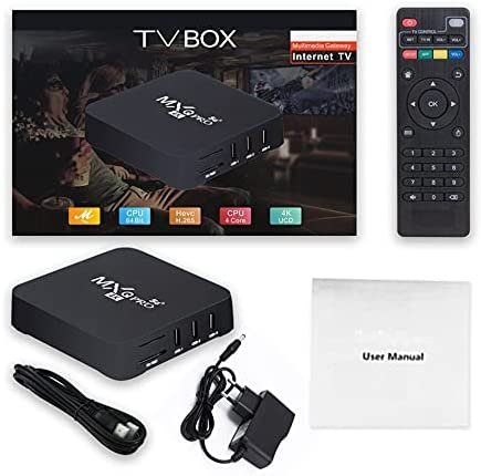 Leepsom Mxqpro 5G 4K Smart Wireless TV Box High Definition Media Player WiFi Dual Frequency Set-Top Box Voice Assistant Box