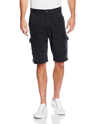 edc by ESPRIT Herren 996CC2C901-im Cargo Stil Shorts, Schwarz (Black 001), 46 (Herstellergröße: 29)