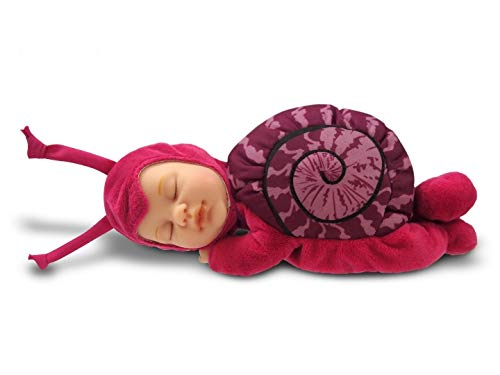 Anne Geddes 579169 różowa ślimakowa lalka / Pink Snail 25 cm Baby Doll - Bean Filled Soft Body