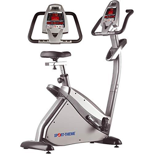 Sport-Thieme Fitnessbike Ergometer ST 500 | Heimtrainer mit Magnetbremse, Pulsmesser, Eigenantrieb Generator, Computer Display, XXL Sattel | Bis 130 kg belastbar | 115x54x153 cm | 60 kg