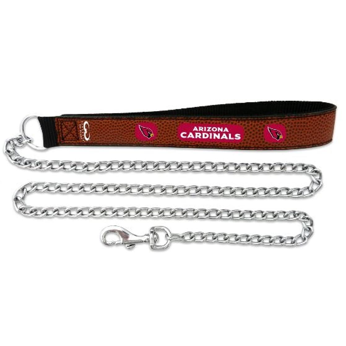 樹皮お敬意を表するArizona Cardinals Football Leather 2.5mm Chain Leash - M