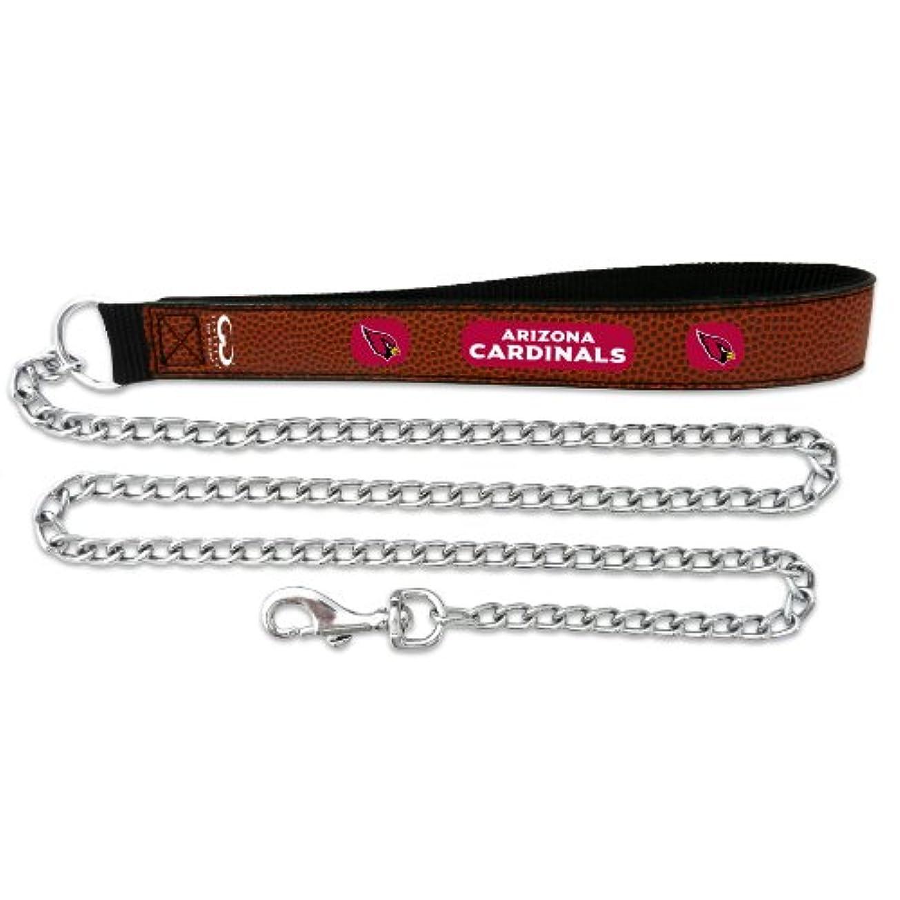地図必要条件有名なArizona Cardinals Football Leather 2.5mm Chain Leash - M
