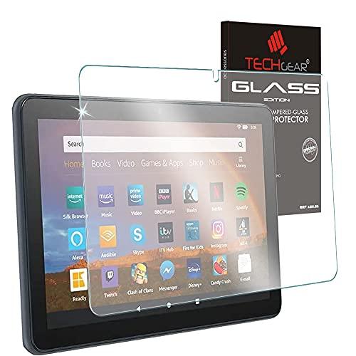 TECHGEAR Matt Panzerglas Kompatibel mit Neu Amazon Fire HD 10 / HD 10 Plus Tablette (2021 11. Generation) Matte Blendschutz Auflage, Original-gehärtetes Glas Folie für HD 10 2021 Panzerglas Matt