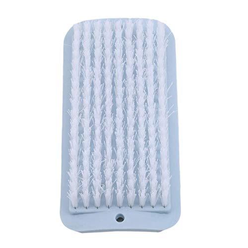 Yener Reinigungsschuh Candy Color Shell Kleidung Schuhe Boden Schrubbbürste Kunststoff Weiches Haar Badeschuh Bürste Reinigungswerkzeuge, blau