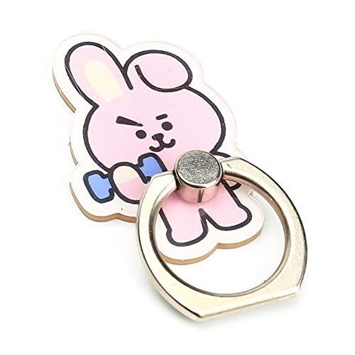 Loheag Clinor BTS mobiele telefoonhouder ring, vingerhouder met 360 ° roterend kenmerk, universele lijm ring standaard, metaal, smartphone ring houder, Cooky