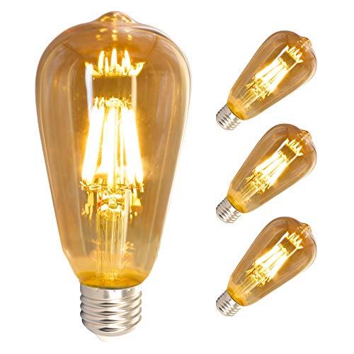 Lampadina a LED Edison E27, 8 W, stile vintage, dimmerabile, extra calda, luce a LED, colore giallo caldo, vintage, ideale per casa, bar, ristorante, decorazione con stile antico nostalgico (3 pezzi)