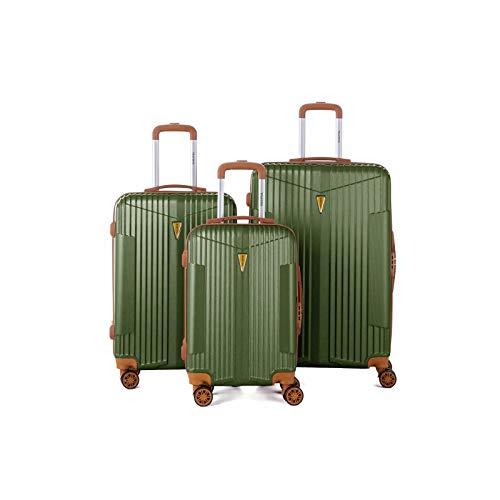 Murano – Juego de 3 maletas, 2 tamaños y 1 tamaño cabina – equipaje rígido ABS – Caqui – Gama IOA