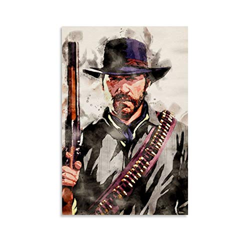Arthur Morgan Canvas Art Poster and Wall Art Picture Print Modern Family Bedroom Decor Posters 08x12inch(20x30cm)