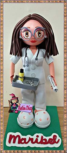 Fofucha Enfermera o doctora personalizada 25 cms.