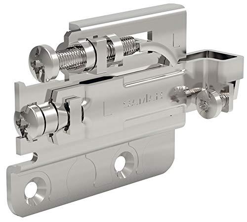Gedotec Oberschrank Schrank-Aufhänger Metall - HERKULA | Anschlag rechts | Aufhängung zum Schrauben | Schrankhalter verstellbar mit Aushänge-Sicherung | Tragkraft 80 kg | 1 Stück - Schrank-Aufhängung