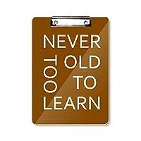 あまりにも古い学習 フラットヘッドフォルダーライティングパッドテストA4