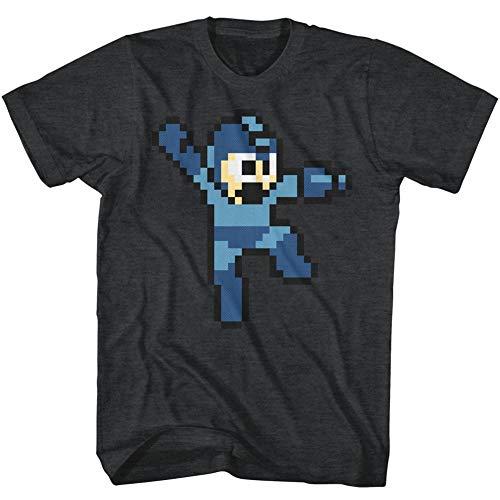 Mega Man Jumpman Video Game Pixel Robot Android Rockman Adult T-Shirt Black