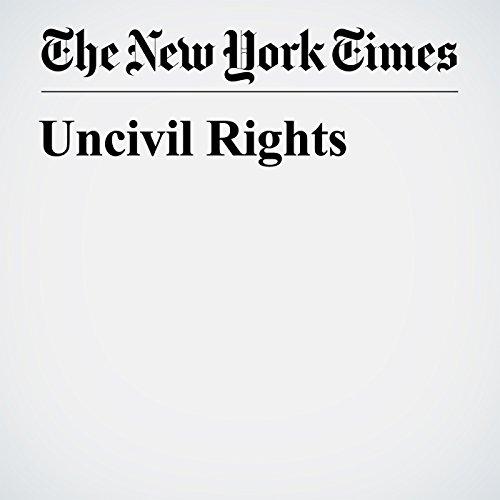 Uncivil Rights copertina