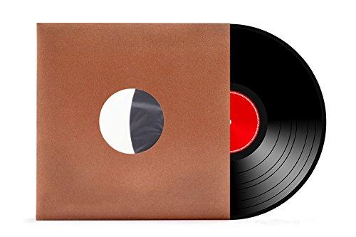 """50 Stück   12\""""   Schallplatten   LP   Vinyl   Innenhüllen   gefüttert   antistatisch   braun   70 gr./m²   xi-media®"""