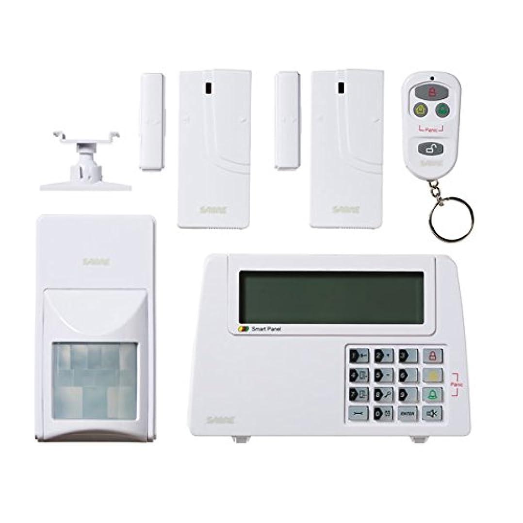 共産主義書道バランスのとれたSABRE Home Expandable Wireless Burglar Alarm Security System - Includes Motion Door and Window Sensors LCD Touch Screen Display and Remote Control Key FOB - DIY EASY Installation