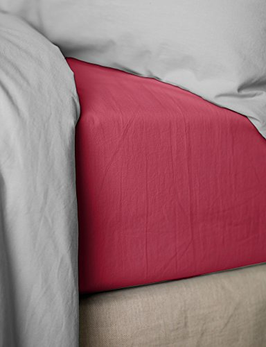HOME INSPIRATION Drap Housse 140X190+30 Percale Framboise