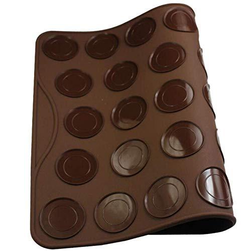 Backmatte für Kuchen und Makronen, 27 Kapazitäten, Herzform, Silikon, Backmatte, antihaftbeschichtet, für Macarons, Backformen, Muffins, Backblech Backen Dekoration Werkzeuge für Makronen