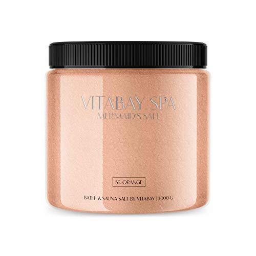 Vitabay Sauna- und Badesalz St. Orange 1000 g • Sanftes Körperpeeling • Whirlpool geeignet