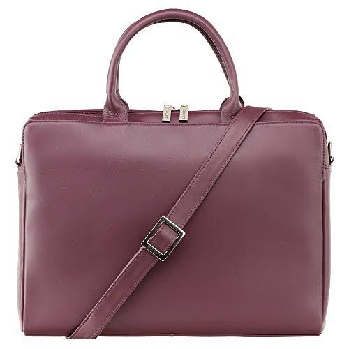 VISCONTI Womens Large Business Briefcase 13' Laptop Bag (Plum)