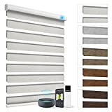 Electric Zebra Blinds Blackout Blinds and Alexa Horizontal Filters are Compatible with Remote Control Roller Blinds with Curtains, Suitable for Smart Homes and Offices, Customized Sizes 83028B1