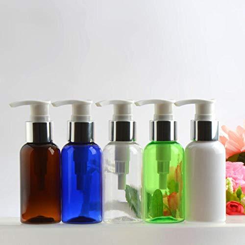 Flacon pompe multifonctionnel,Lotion, shampoing, embouteillage-Tête de pompe transparente 75 ml bleu + argent,5 pièces,Utilisé dans la cuisine, la salle de bain