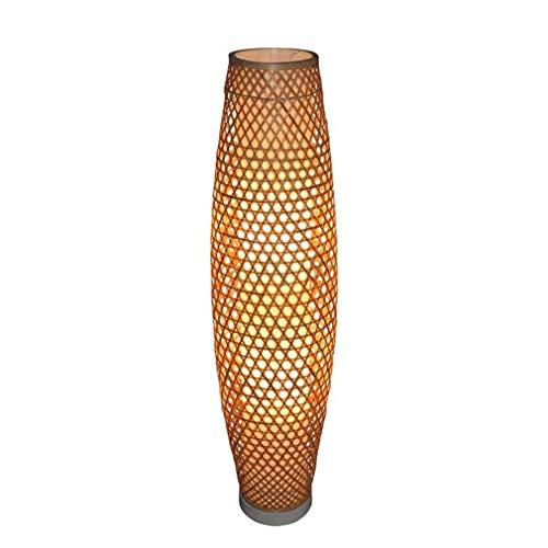 Vloerlamp, permanent, verlichting binnen, Japans, bamboe, handgeweven, verticaal, staande lamp, woonkamer, slaapkamer, huis, continu licht